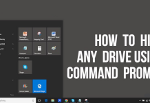 Hide Or Unhide Any Local Disk Drive In Windows Using CMD