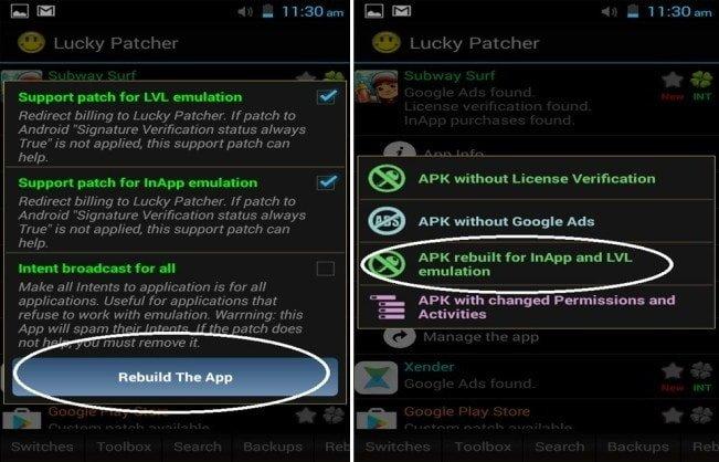 Apk rebuilt for in-app and LVL emulation