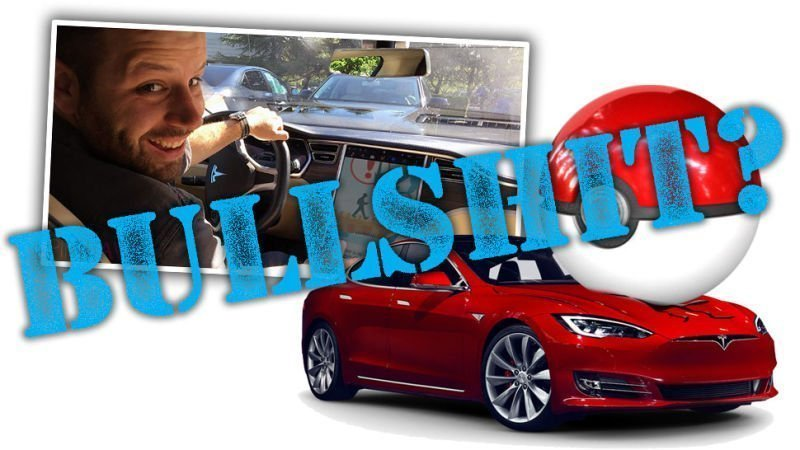 Man Hacks Tesla To Play Pokemon GO While Driving