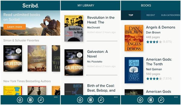 Scribd - 10 Best Educational Studying App For College And Higher School Students