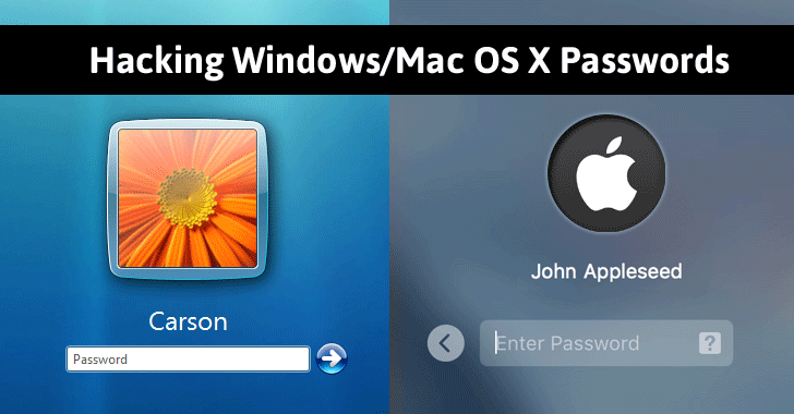 How To Hack Windows And Mac OS X Login Passwords