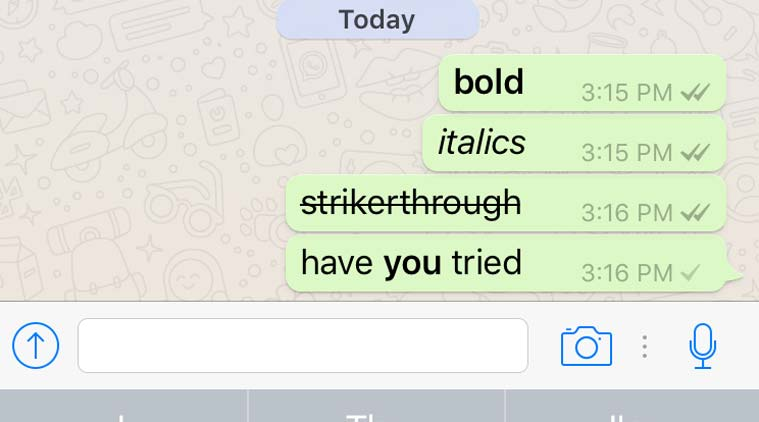 How To Send Bold, Italics, Strikethrough Text Message in WhatsApp