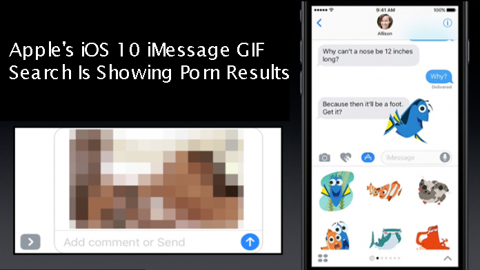 Porn Images Displayed In iMessage On iOS 10
