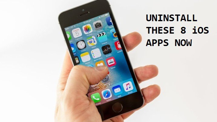 Top 8 iOS Applications You Should Uninstall Right Now