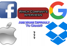 Which Company's Interviews Are More Difficult To Crack? Facebook, Google, Apple or Dropbox?