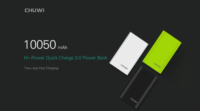 Portable Power Bank CHUWI M 10000 - 10050mAh Black Edition
