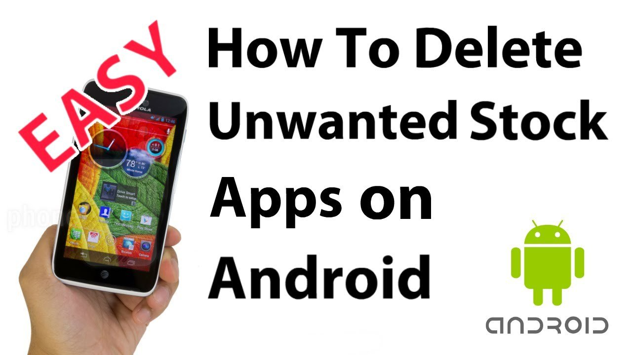 How To Uninstall Android's Bloatware/Preinstalled Apps