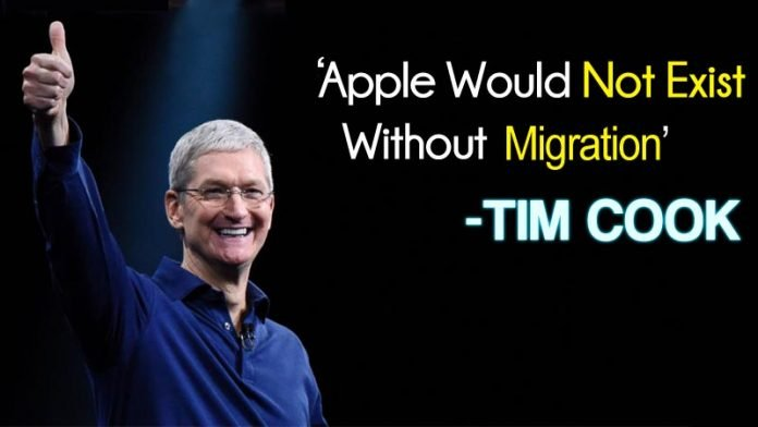 Apple CEO Tim Cook Says Apple Might Not Exist Without Migration'