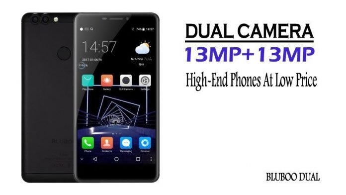 BLUBOO Dual 13MP Camera 2GB RAM Fingerprint Scanner