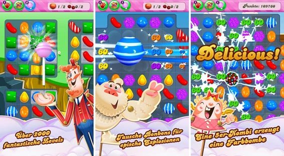 Candy Crush Saga - 2017 Top 10 Best Addictive Games For Android Users