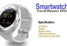 TenFifteen RS9 SmartWatch With SIM Card Slot