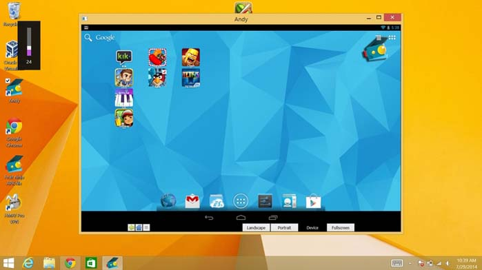 Andy Android Emulator - Download 13 Best Android Emulators For Gamers And Developers Windows 7, 8 And 10