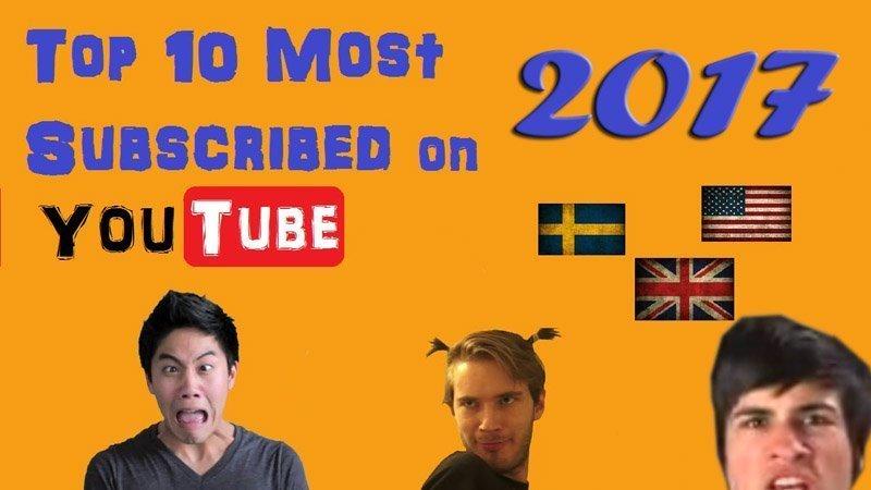 Popular YouTubers 2017