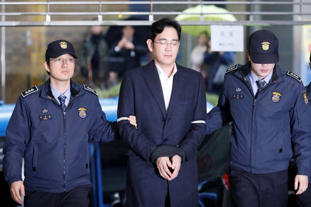 Samsung is the arrest of Chief Jay Y. Lee