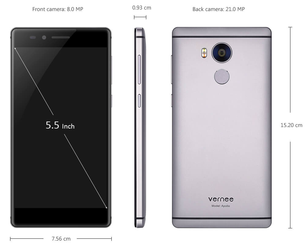 Vernee Apollo 4G Phablet Images, Specs And Features