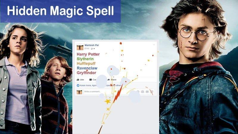 What Is Facebook Hidden Harry Potter Trick Trending