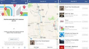 Facebook Finding Free WiFi For You Near You