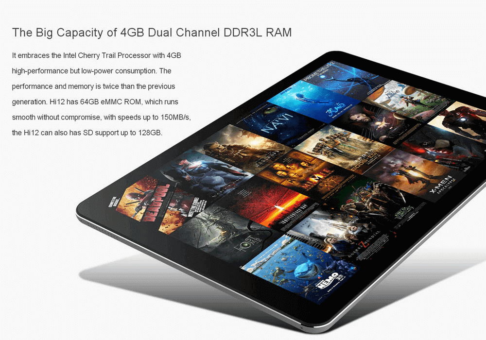 Windows 10 + Android Chuwi Hi12 12.0Inch Tablet PC 4GB RAM