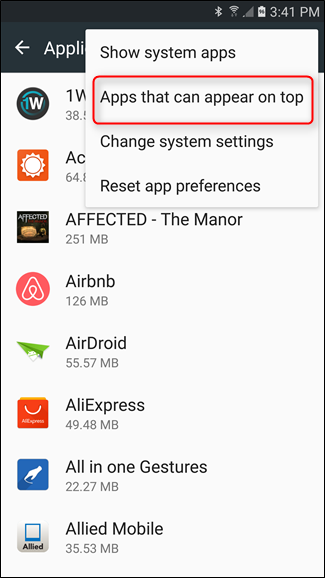 How to Solve the Screen Overlay Detected Error on Android