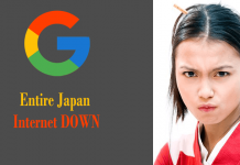 Unexpectedly Google's Mistake Broke The Internet In Entire Japan