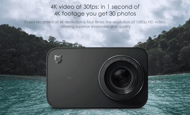 Xiaomi Mijia Mini 4K Recording At 30fps The Action Camera