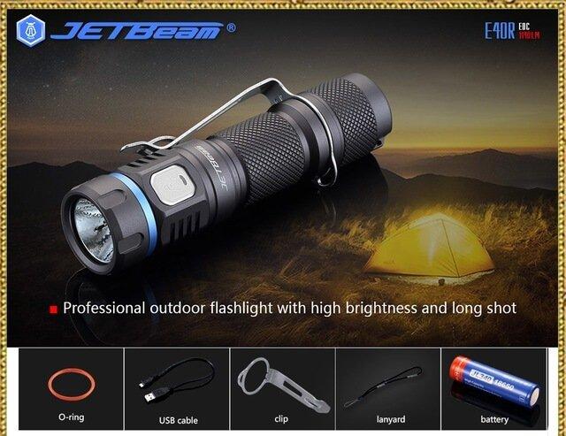 JETBeam E40R Luminus SST40 LED Flashlight USB Powered