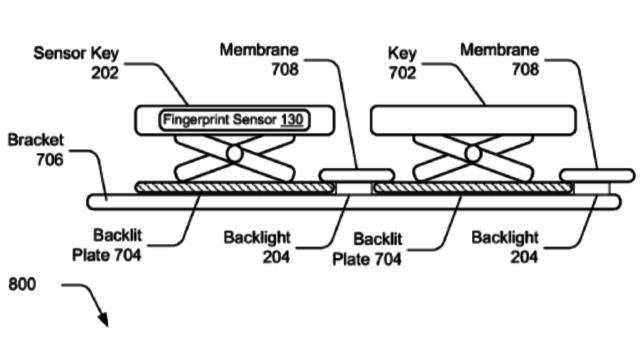 Microsoft Decided To Install Fingerprint Sensor In Keyboard Keys