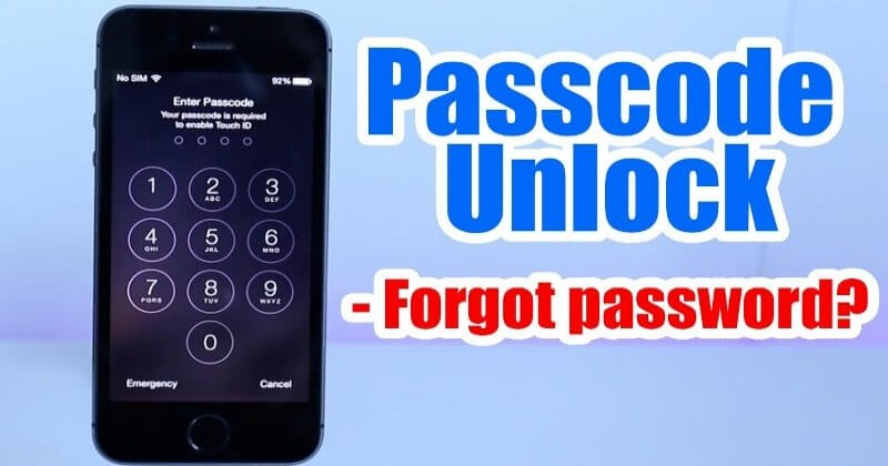 Simple Methods To Unlock A Locked iPhone Or iPad PassCode