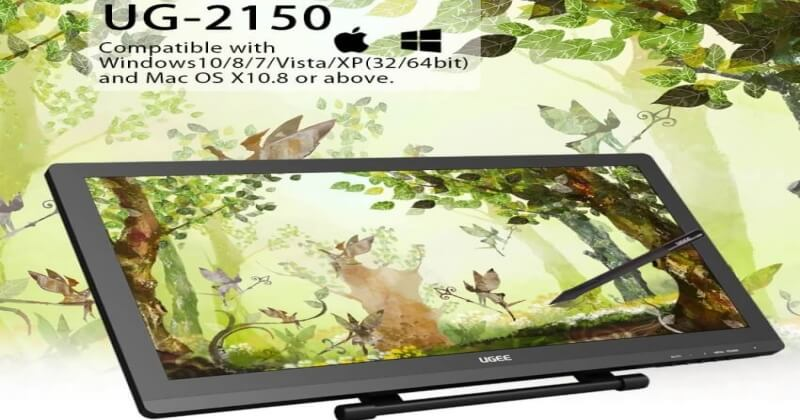 UGEE 2150 Review P50S Pen Digital Painting Graphic Tablet For Artists