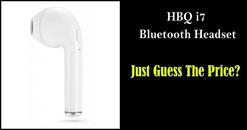 The New HBQ i7 Single Stereo Bluetooth Headset With Mic