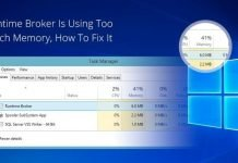 Know About Runtime Broker And Why It Consume High Memory Usage