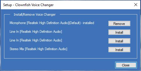 Download Clownfish Voice Changer Working Online