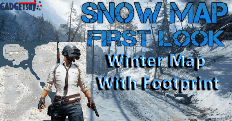 PUBG Winter Map With FootPrint