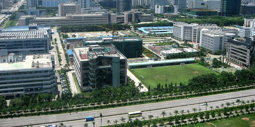 ZTE corporate campus in Shenzhen, Guangdong