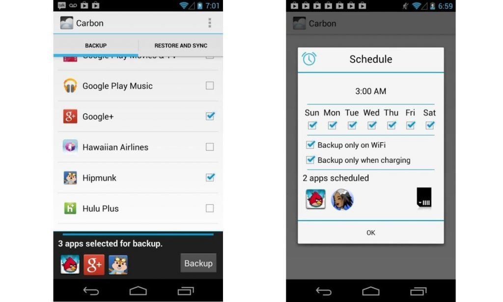 helium contact manager for android