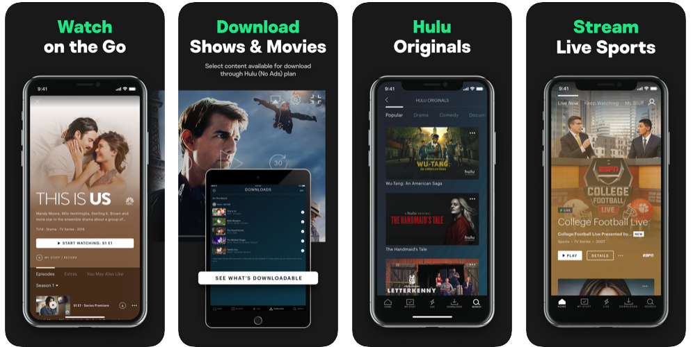 hulu-screenshots-in-applestore