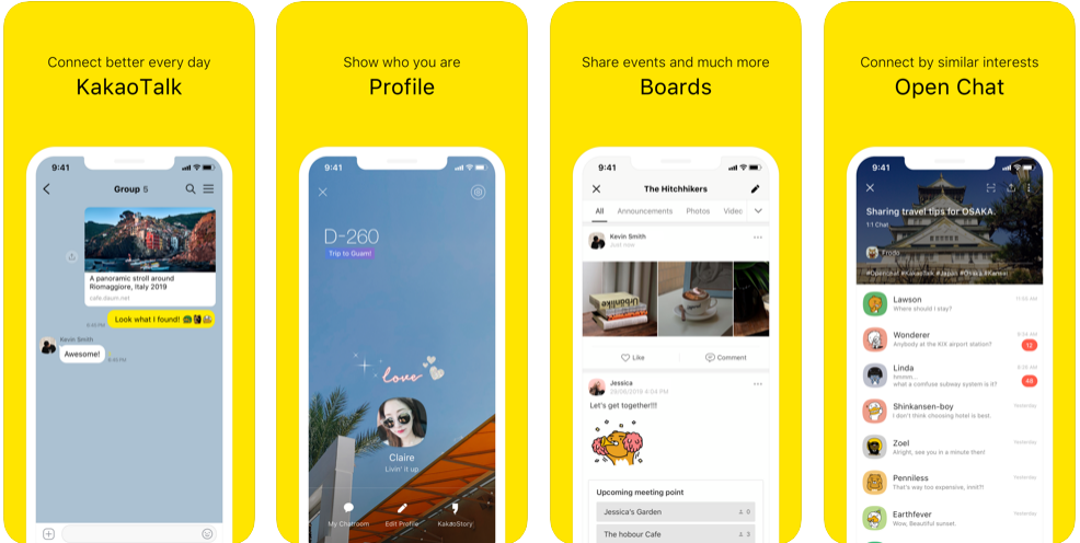 Kakaotalk-screenshots