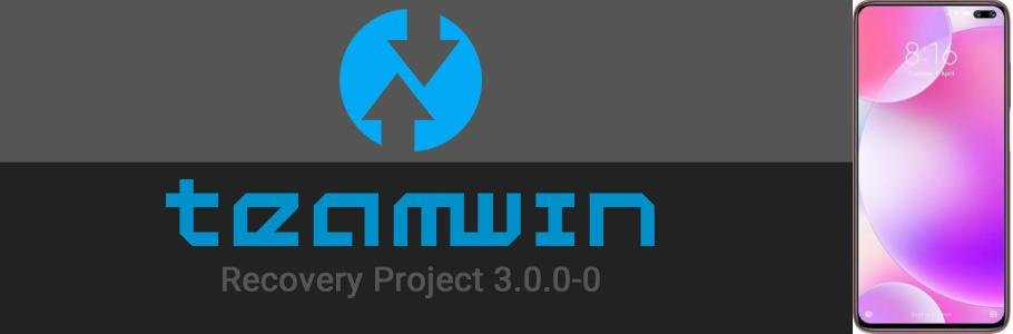 TWRP-logo-and-xiaomi-poco-x2-side-by-side