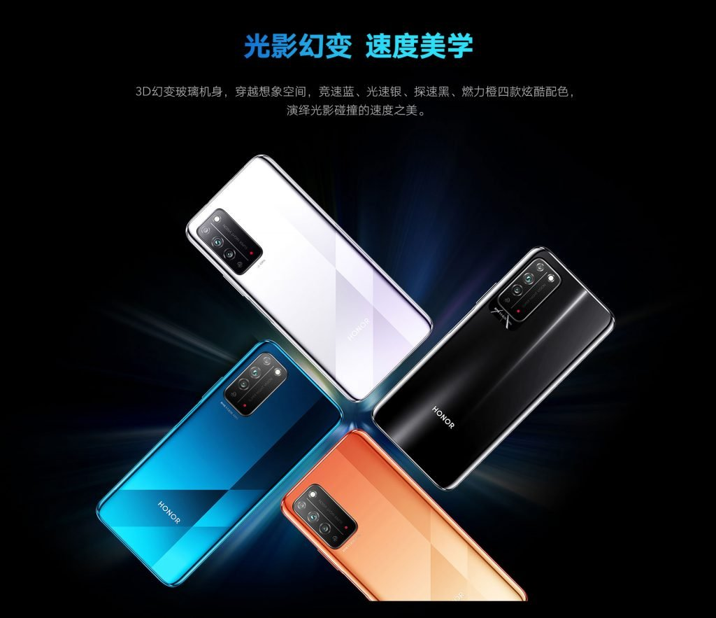 Honor X10 colors