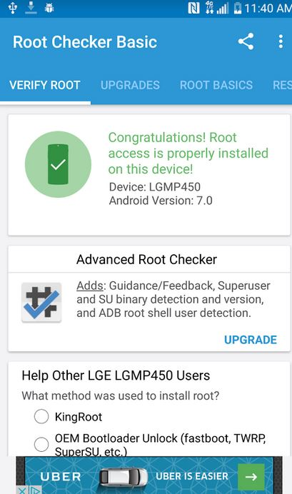 LG Stylo 3 Plus Root