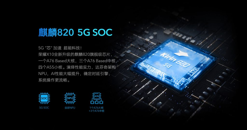 Honor X10 5g soc