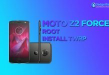 root moto z2 force install twrp
