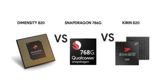 Dimensity 820 VS Kirin 820 Vs Snapdragon 768G