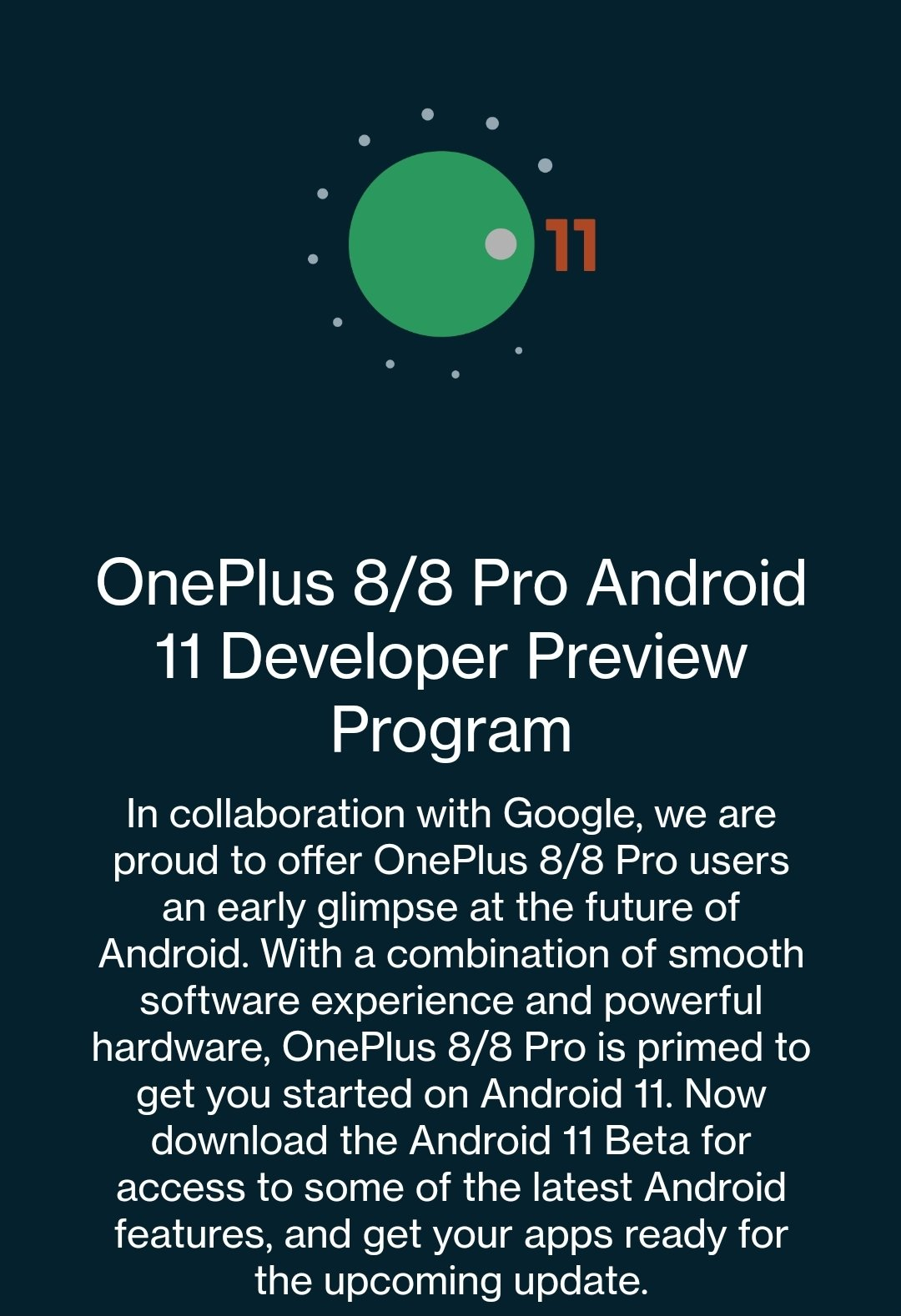 OnePlus 8 Series Android 11 Beta