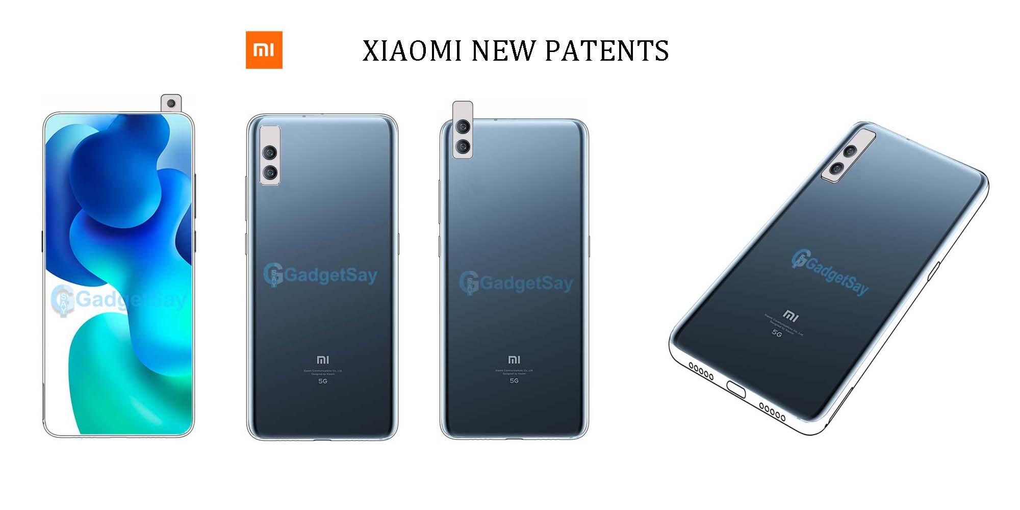 Xiaomi new design patent with sliding camera