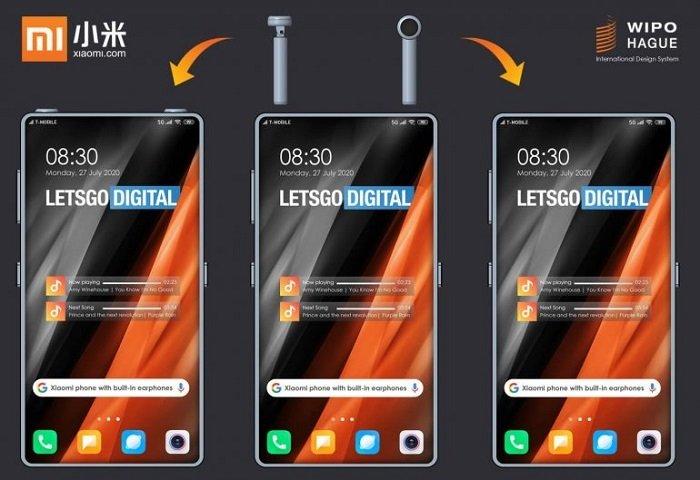 Xiaomi full-screen smartphone patent