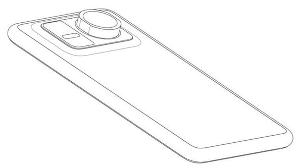 Huawei phone patent with SLR lens