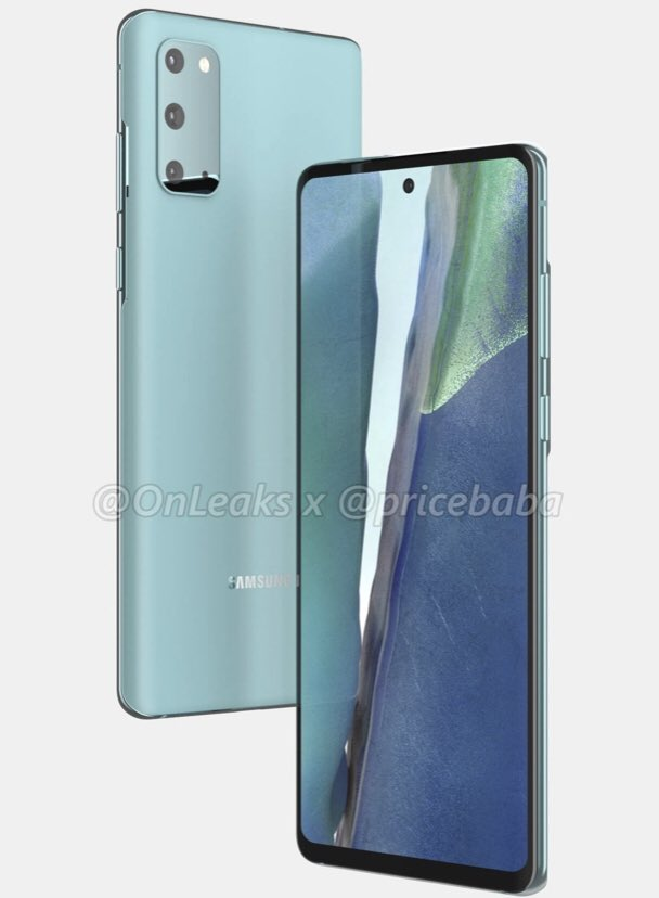 Samsung Galaxy S20 Fan Edition Render