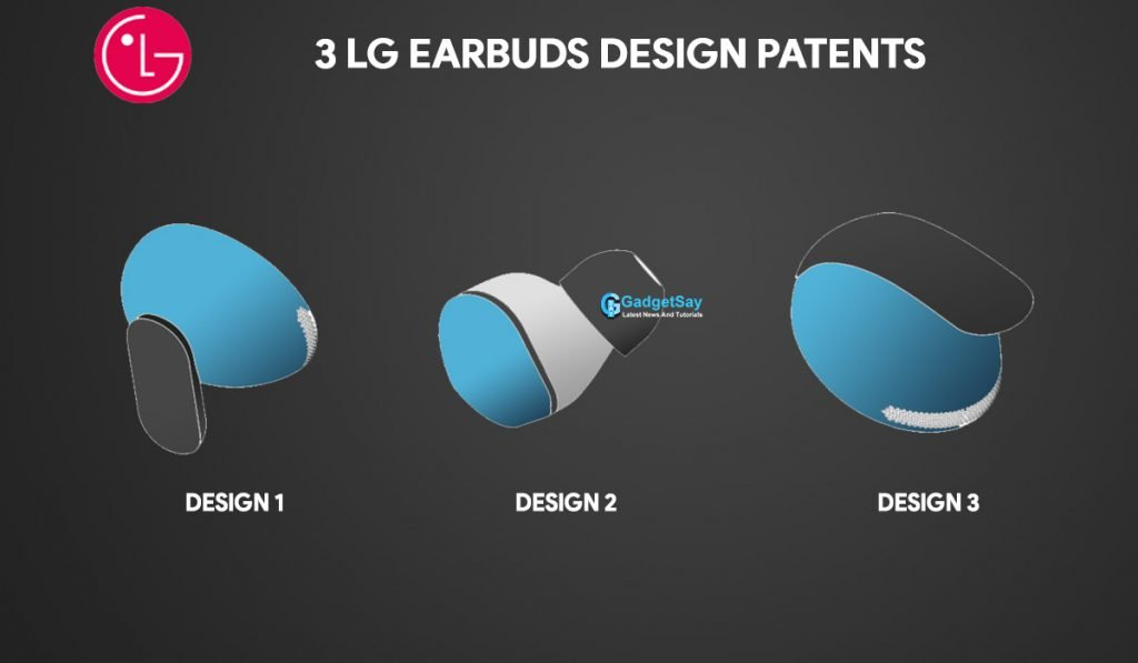 3 lg earbuds design patents