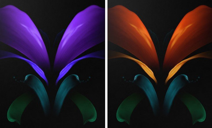 Download The Stock Wallpapers Of Samsung Galaxy Z Fold 2 Gadgetsay